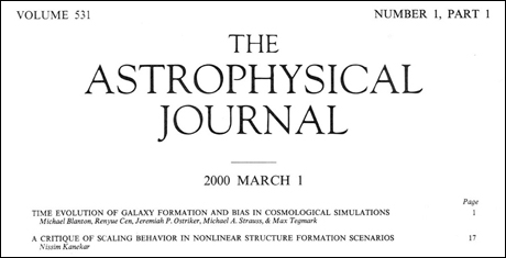 <i>Astrophysical Journal,</i> University of Chicago Press